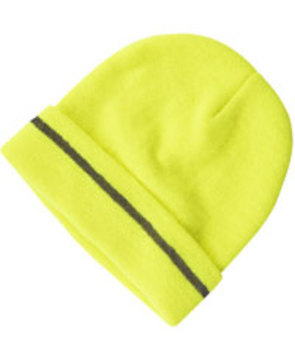 Lime Fluoro Reflective Beanie
