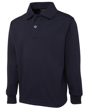 Long Sleeve Podium Poly Polo - Select Colour