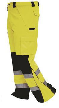 Bison Rain Trouser Yellow Black