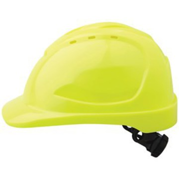 Hard Hat V9 Vented Ratchet Adjustment Fluoro Yellow