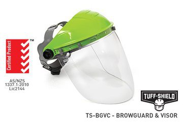 Tuff Shield Browguard & Clear Visor Combo