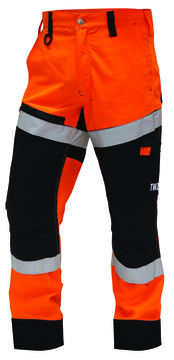 TWZ Craftsman Rip Stop Cotton Taped Trouser Orange Black