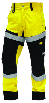 TWZ Craftsman Rip Stop Cotton Taped Trouser Yellow Black