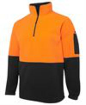 JB's Hi Vis 1/2 Zip Polar Fleece - Select Colour