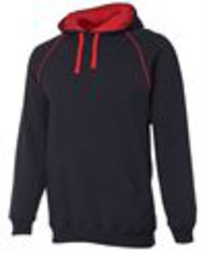 Adults Contrast Fleecy Hoodie - Select Colour
