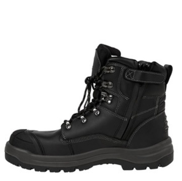 JB's Side Zip Boot Lace Up Black