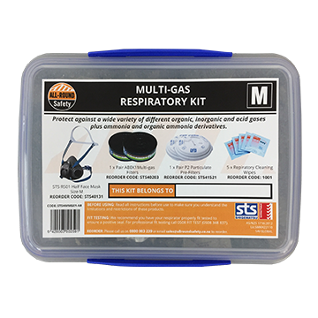 STS Half Mask Multi-Gas Respiratory Kit