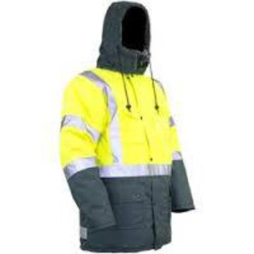ICETEC Hi Vis Freezer Wear Jacket Yellow Green