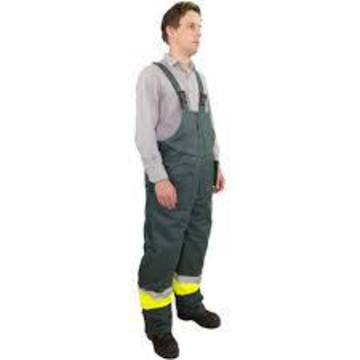 ICETEC Hi Vis Freezer Wear Bib Trouser Yellow Green