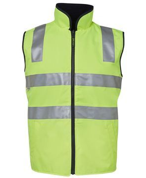 Hi Vis (D+N) Reversible Vest Lime Black