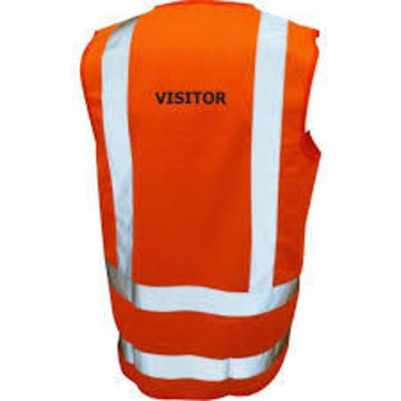 Safety Vest Printed Hi Viz Day Night TTMC Orange