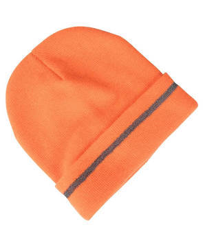 Orange Fluoro Reflective Beanie