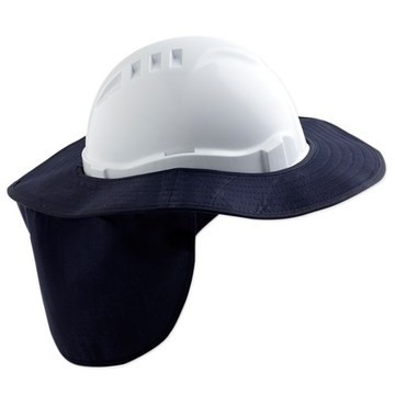 Pro Hard Hat Brim With Neck Flap Navy