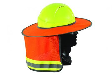 Full Brim Hard Hat Sun Shield Orange