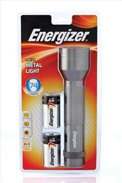 Energizer Metal LED with 2xD Batteries