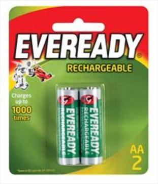 Eveready Recharge Batteries AA 2pk