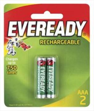 Eveready Recharge Batteries AAA 2pk