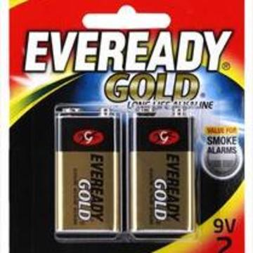 Eveready Gold Alkaline 9v Battery (2pk)
