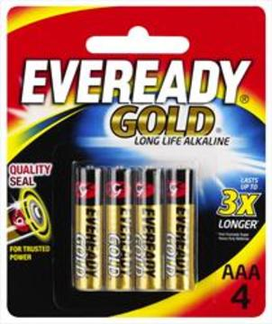 Eveready Gold AAA Alkaline Battery (4pk)