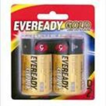 Eveready Gold Alkaline Battery D (2pk)