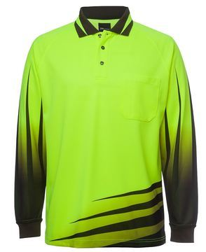 Hi Vis L/S Rippa Sub Polo- Select Colour