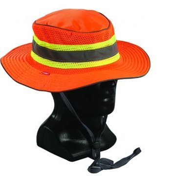 Hi-Vis Full Brim Safari Hat Orange