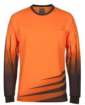 Hi Vis L/S Rippa Sub Tee Orange Black