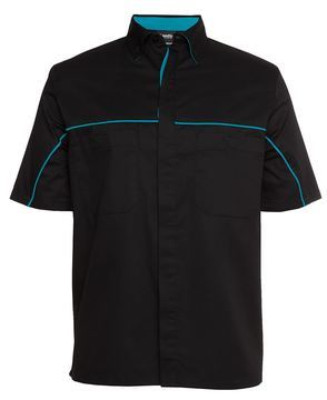 Podium Industry Shirt Black Aqua