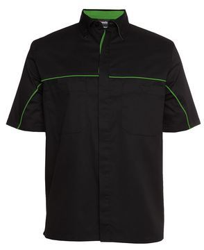 Podium Industry Shirt Black Pea Green