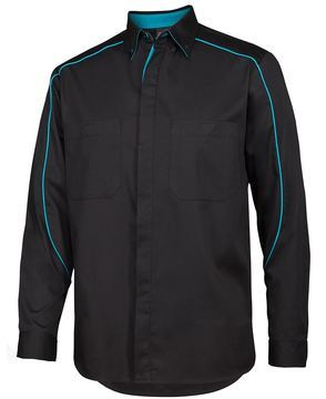 Podium Industry Shirt L/S Black Aqua