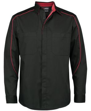 Podium Industry Shirt L/S Black Red