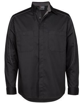 Podium Industry Shirt L/S Black Charcoal