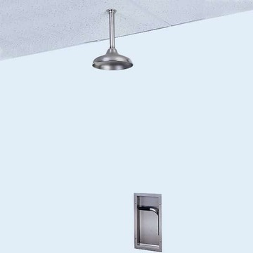 Recessed Emergency Shower, Exposed Shower Head