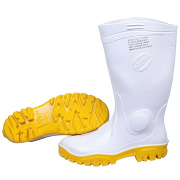 Stimela White Yellow Gumboot