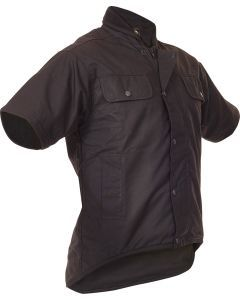 Caution Oilskin Short Sleeve Vest Brown