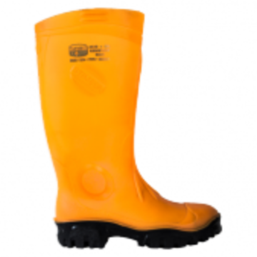 Stimela Gumboots Steel Toe Orange