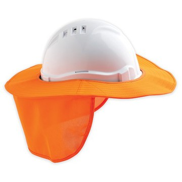 Pro Hard Hat Brim With Neck Flap Orange