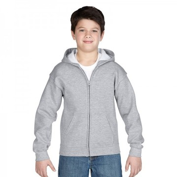 Classic Fit Youth Full Zip Hooded Sweatshirt